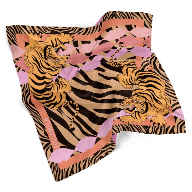 Pañuelo Tigre Acebrado Mediano (70x70cm)