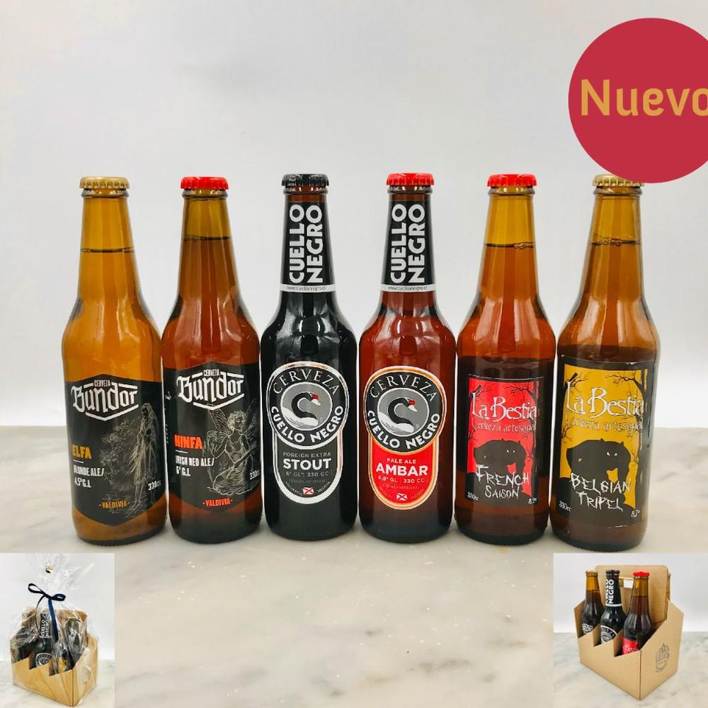 Pack 6 cervezas valdivianas 2 six pack