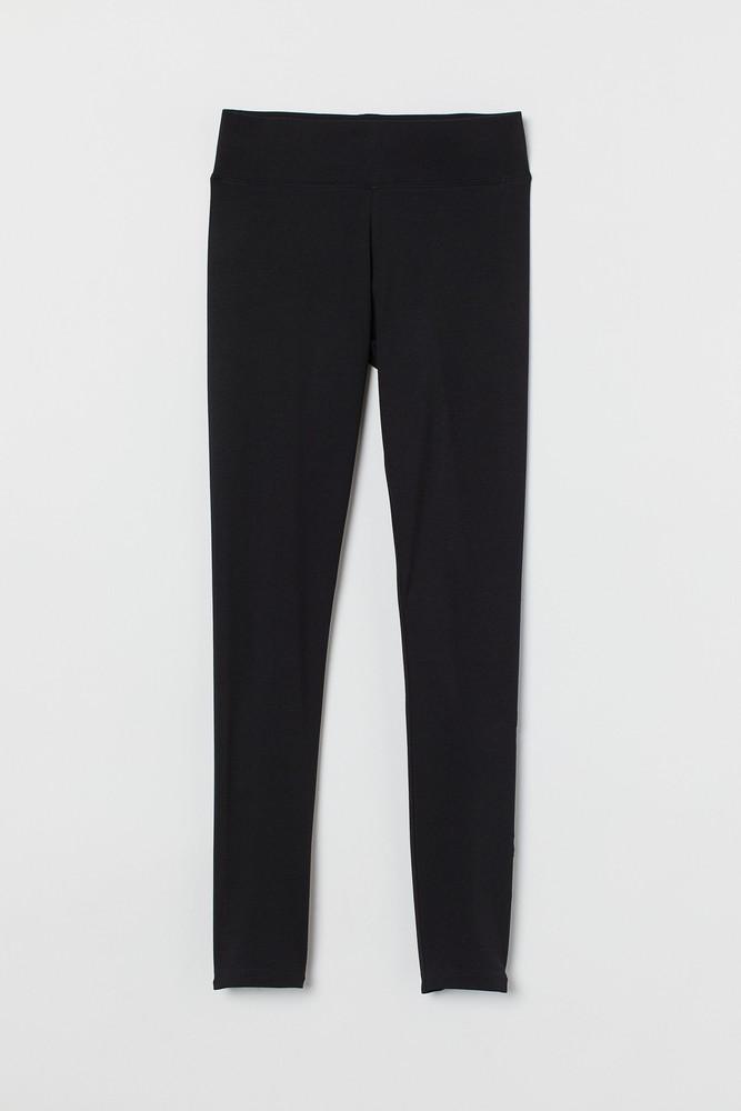 Leggings Color: black. Size: l