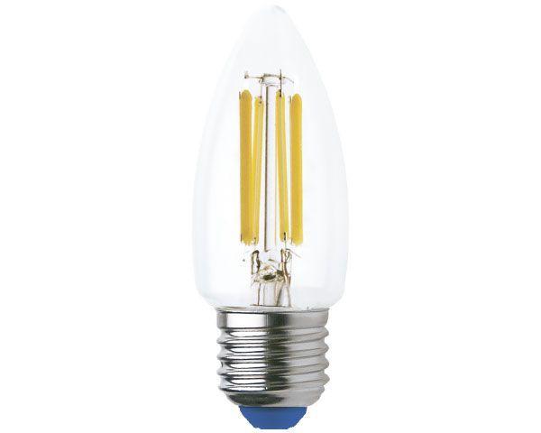 Ampolleta Led Filamento Vela 6W Luz Cálida E27