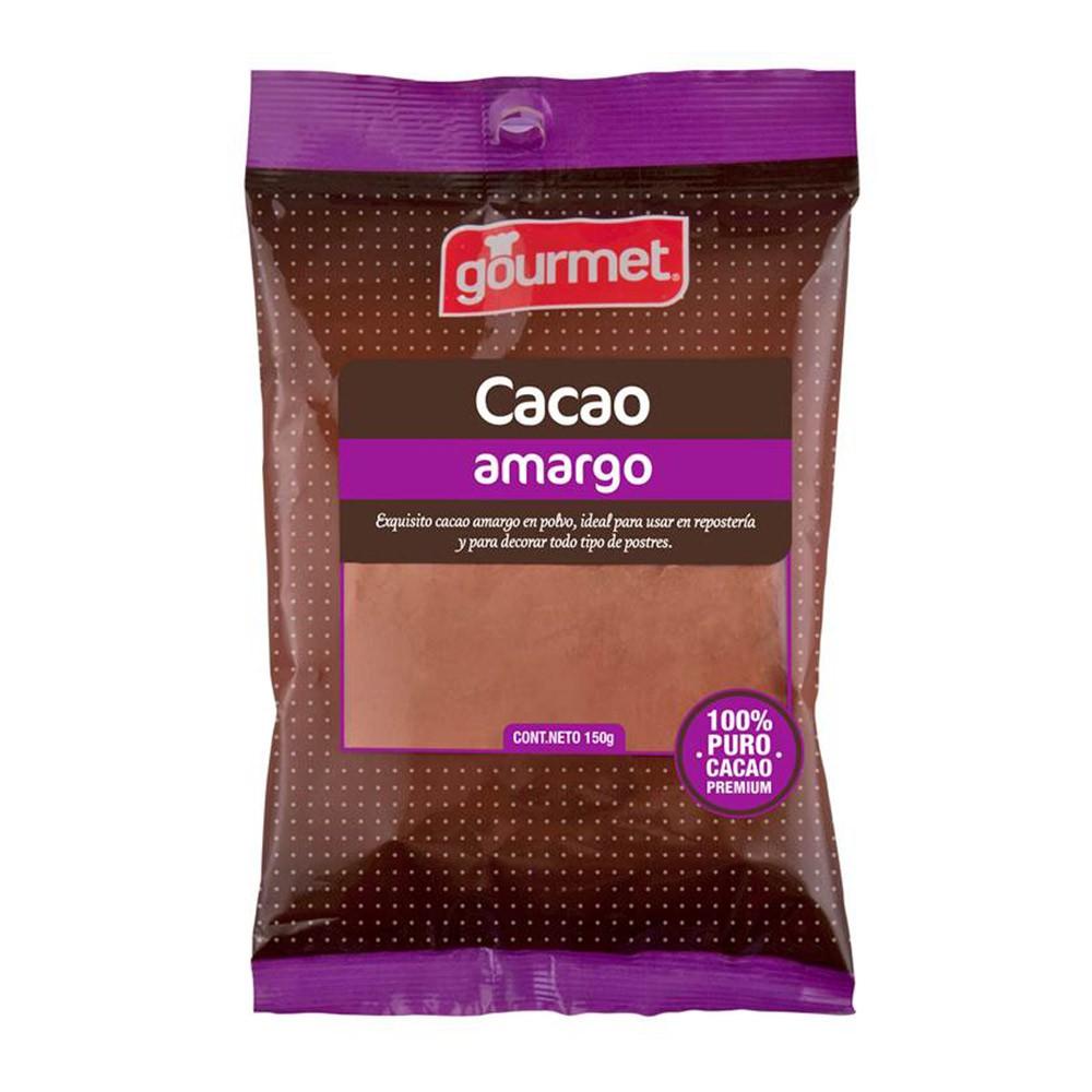 Chocolate amargo en polvo