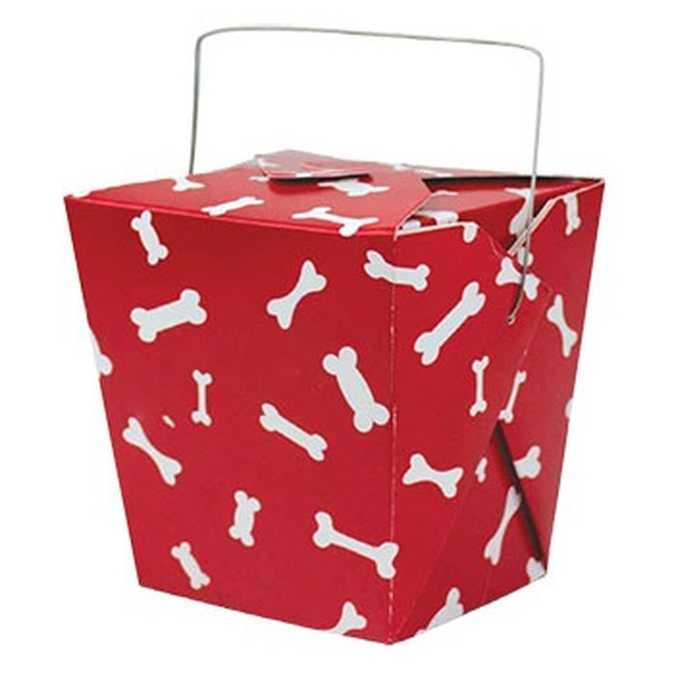 Empty red take out gift box 1pc