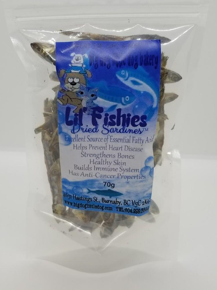 Lil' fishies dried sardines 70gr