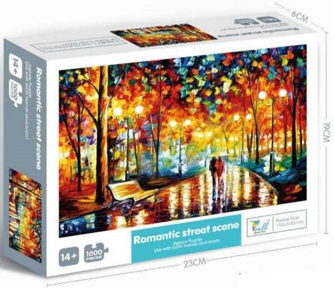 Puzzle romantic street Caja 1000 piezas