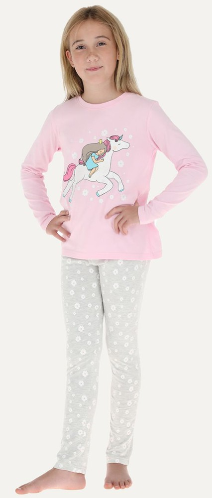 Pijama 2p m/larga - pantalon pitillo 32660 12 rosado