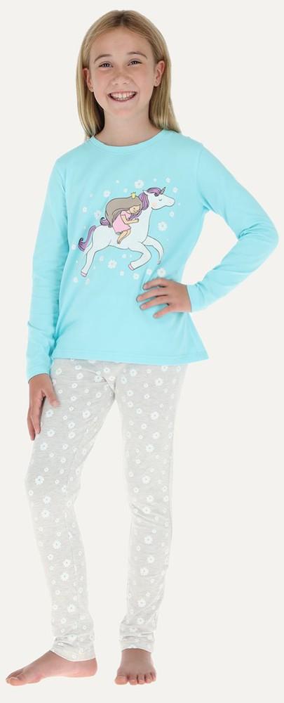 Pijama 2p m/larga - pantalon pitillo 32660 8 celeste