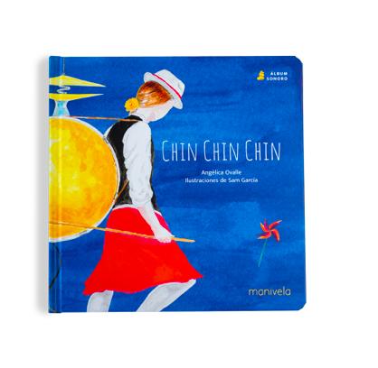 Album sonoro chin chin chin Libro tapa dura 21,6 x 21,6 cm