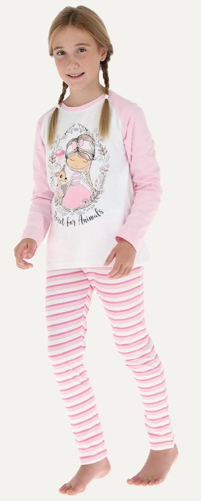 Pijama 2p m/l raglan - pantalon pitillo 32666 8 rosado