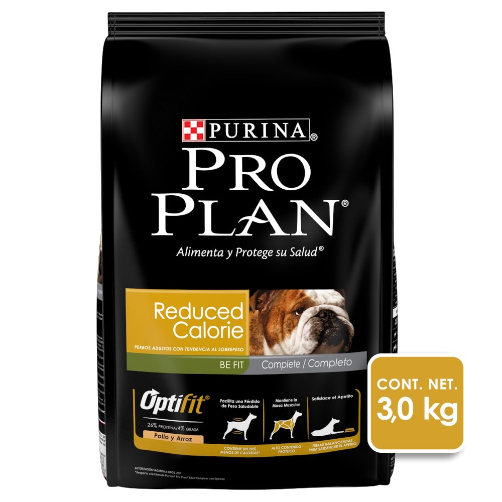 Alimento para perro reduced calorie todas las razas optifit