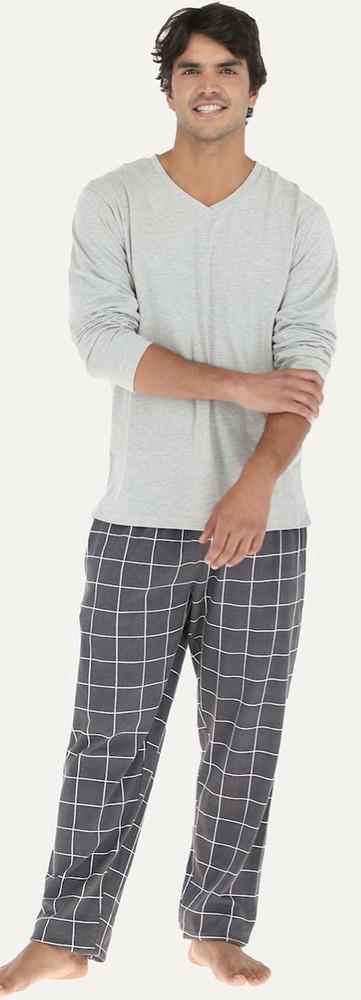 Pijama morgan escote v 32750 m gris