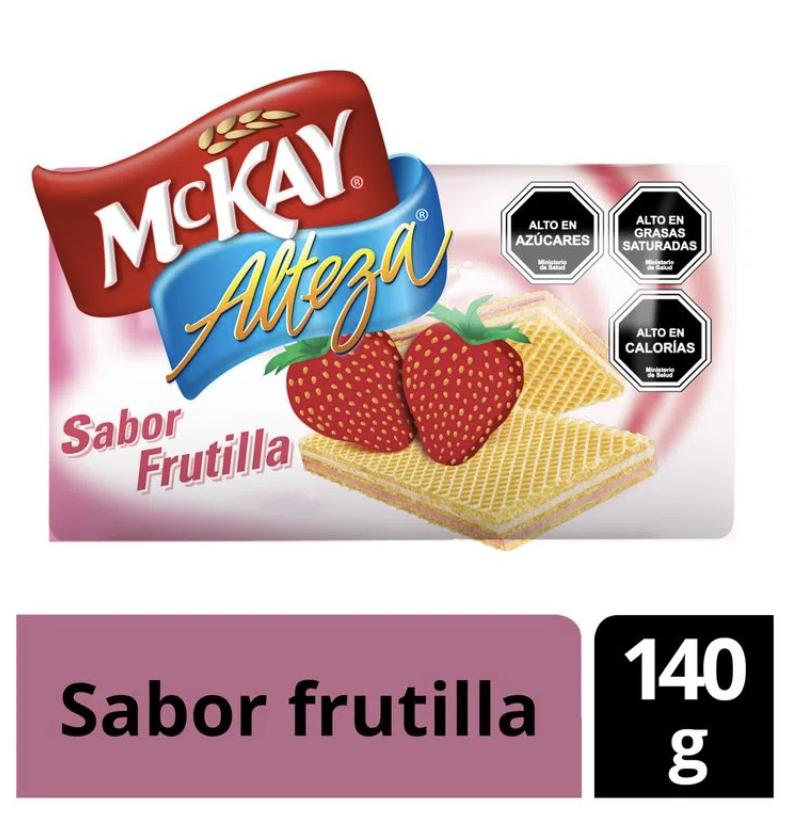 Galleta oblea con crema sabor frutilla
