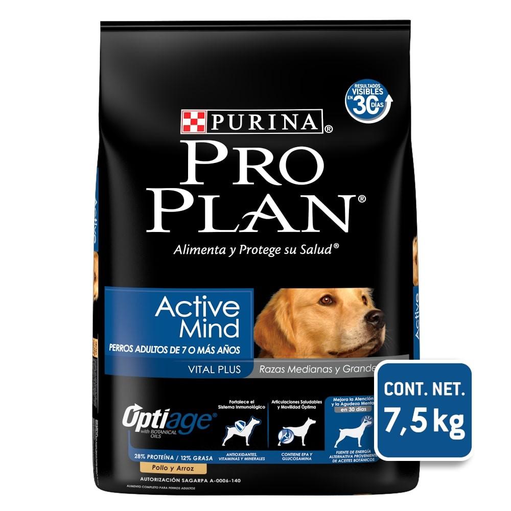 Alimento para perro active mind razas medianas y grandes optiage