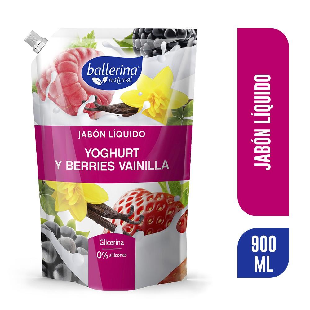 Jabón líquido yoghurt berries y vainilla