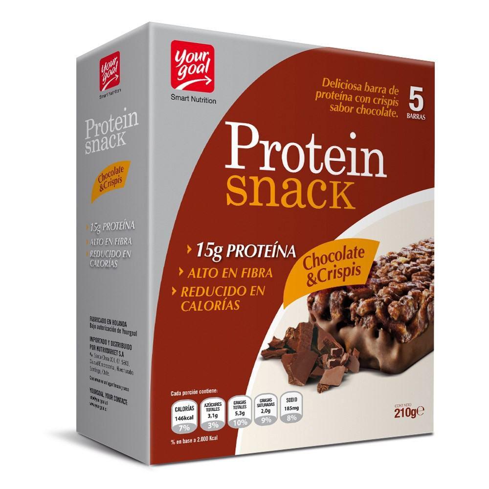 Barra de proteína sabor chocolate & crispis
