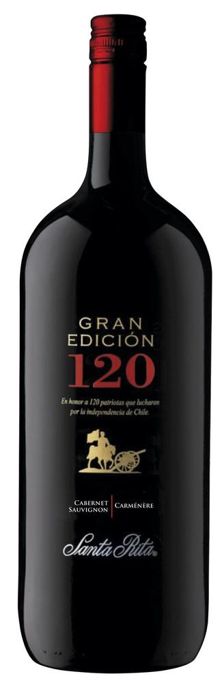 Vino cabernet sauvignon/carmenere Gran Edición 120