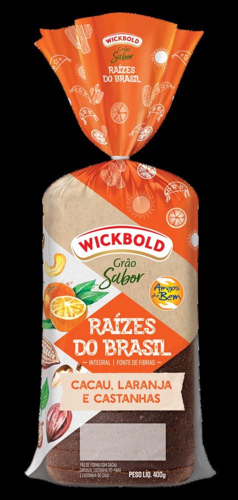 Pão de forma Raízes do Brasil cacau, laranja e castanhas