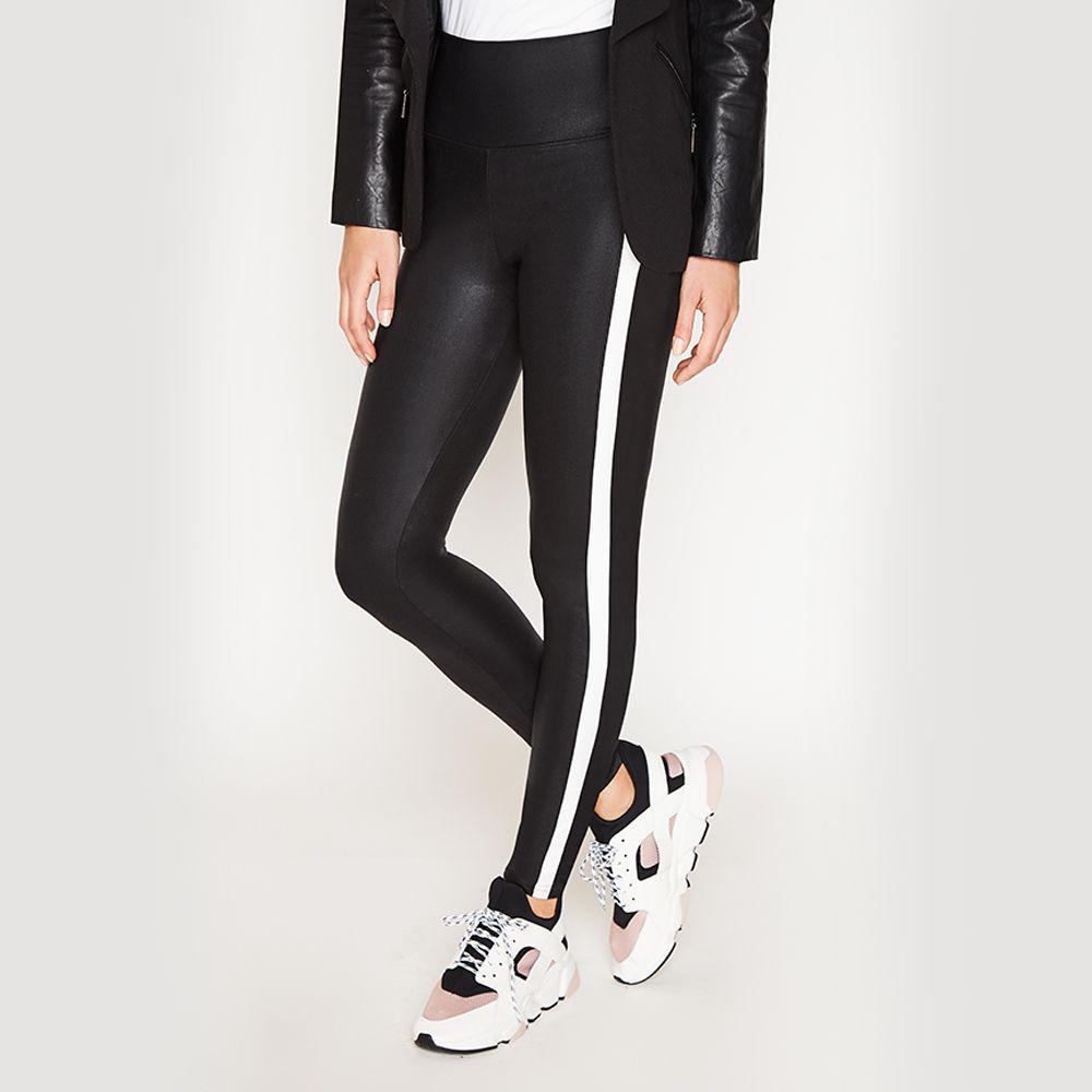 Legging Diseño Negro con Blanco Talla S/M