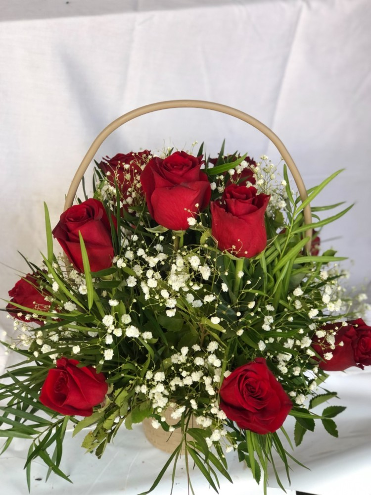 Canasto de rosas