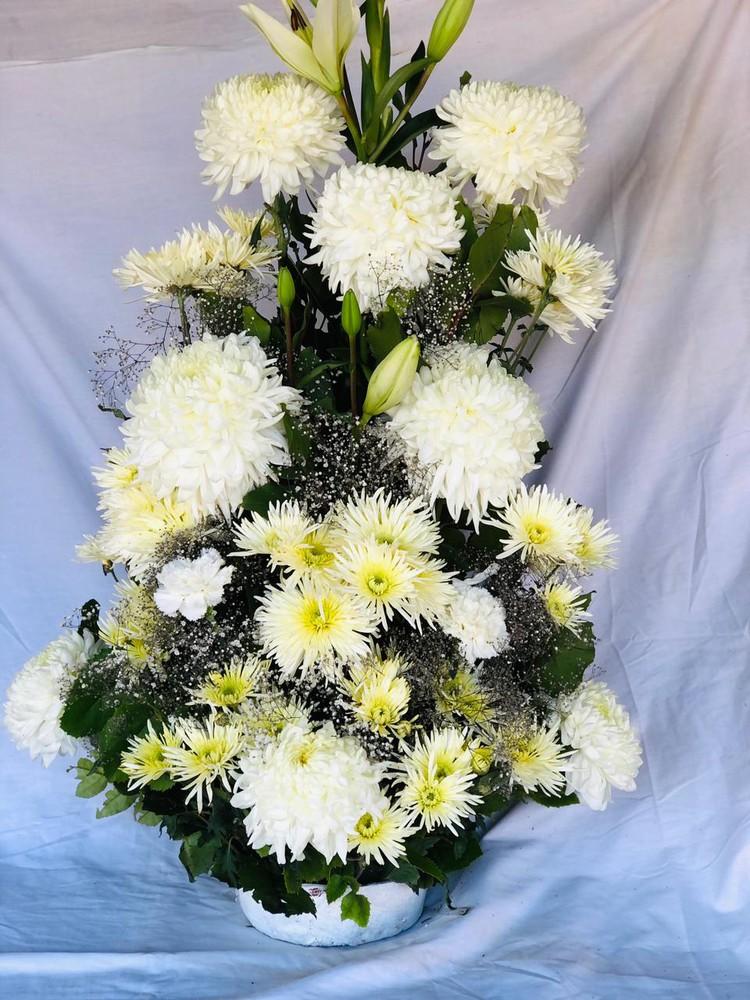 Arreglo floral Grande Blanco