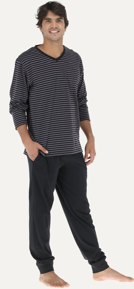 Pijama morgan pantalon puño 32751 m negro Talla M