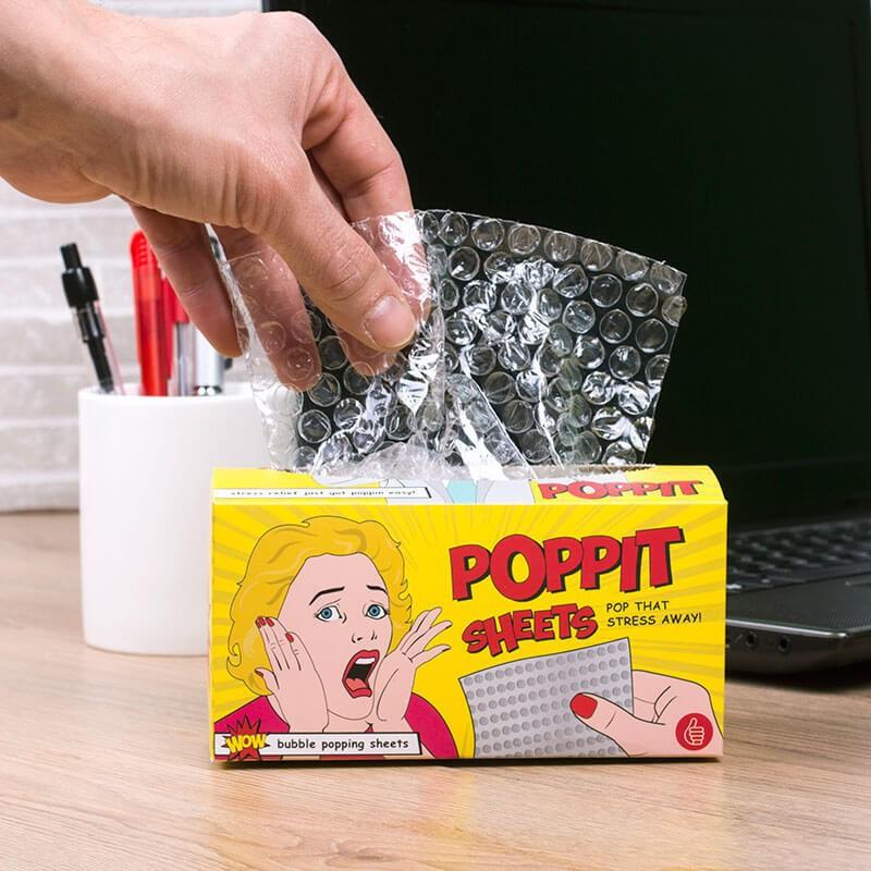 Poppit stress sheets