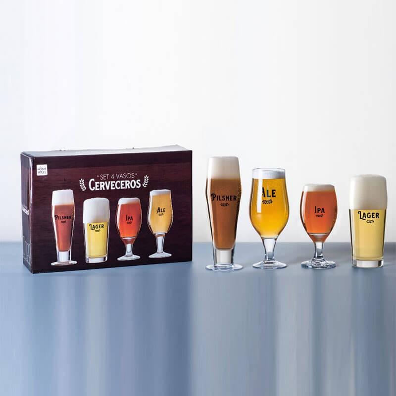 Set vasos cerveceros x4 34 x 6 x 23 cm