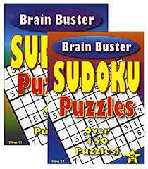 Brain buster sudoku Tapa Blanda 13 x 20 Cm Aprox