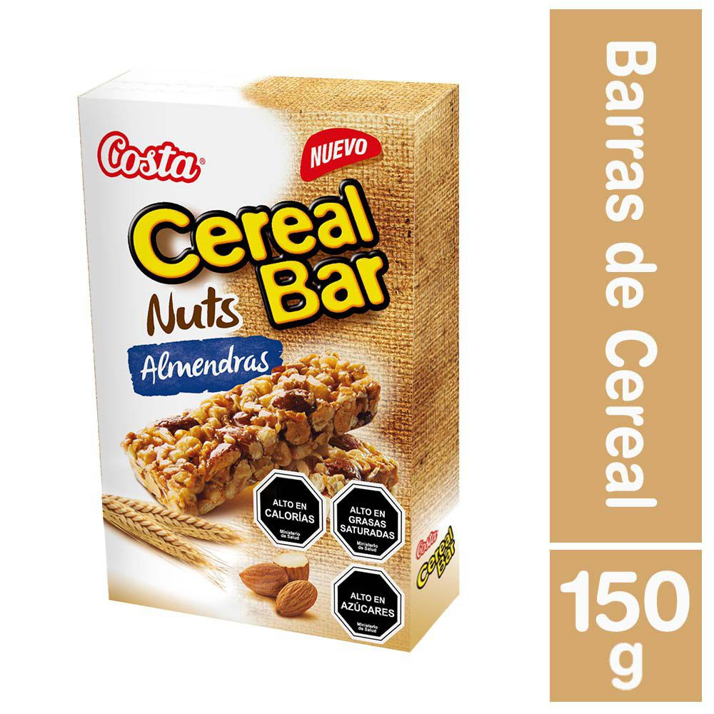 Cereal bar nuts almendras