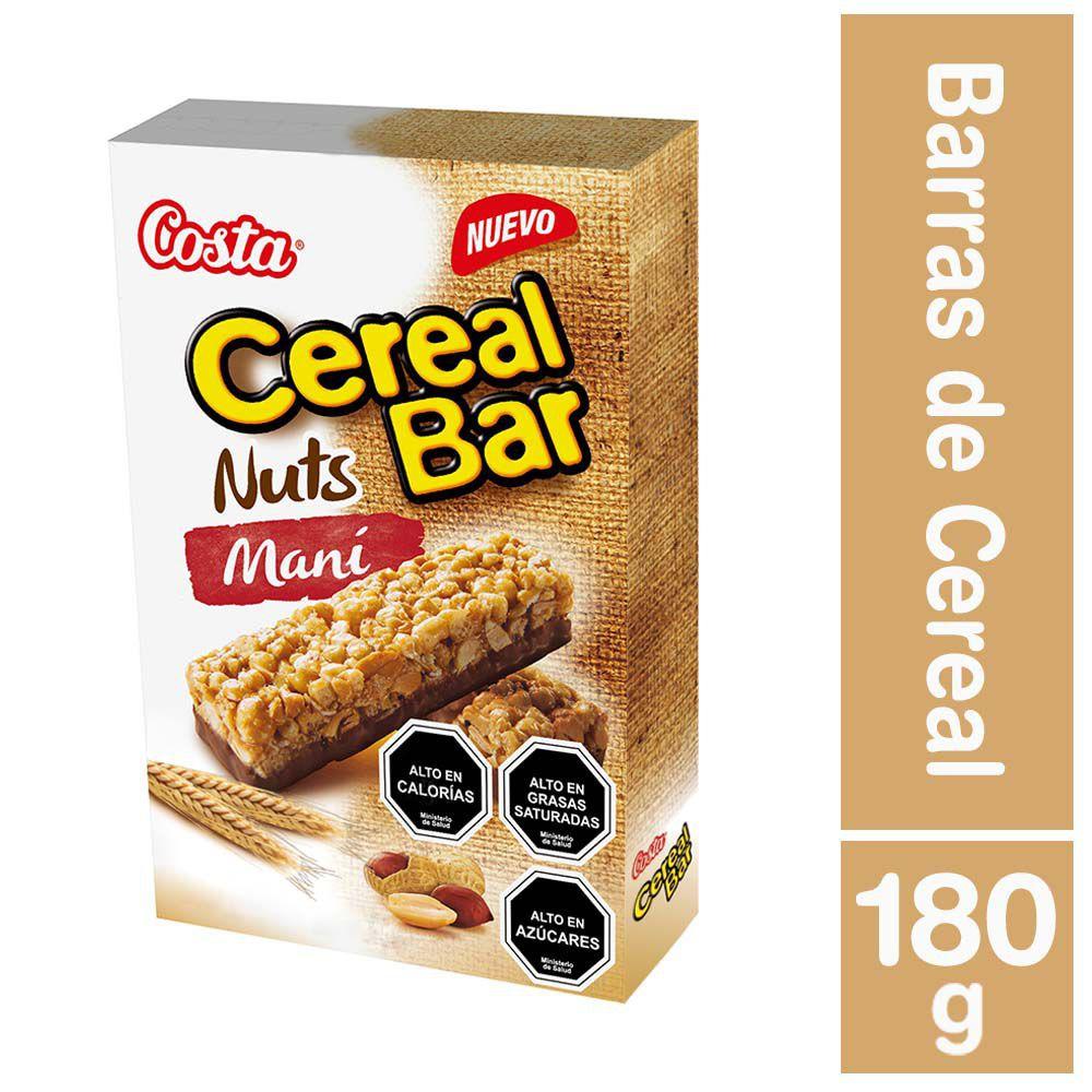 Cereal bar nuts maní