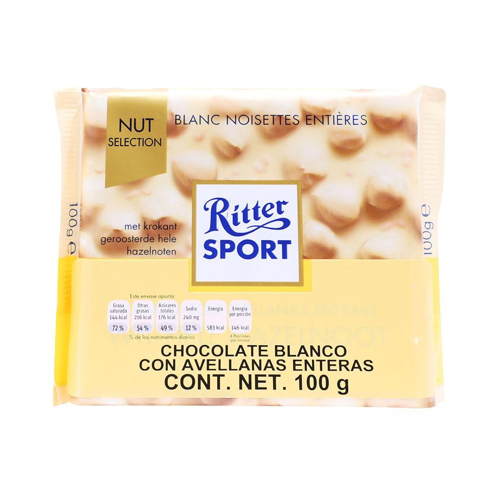 Chocolates blanco con avellanas enteras