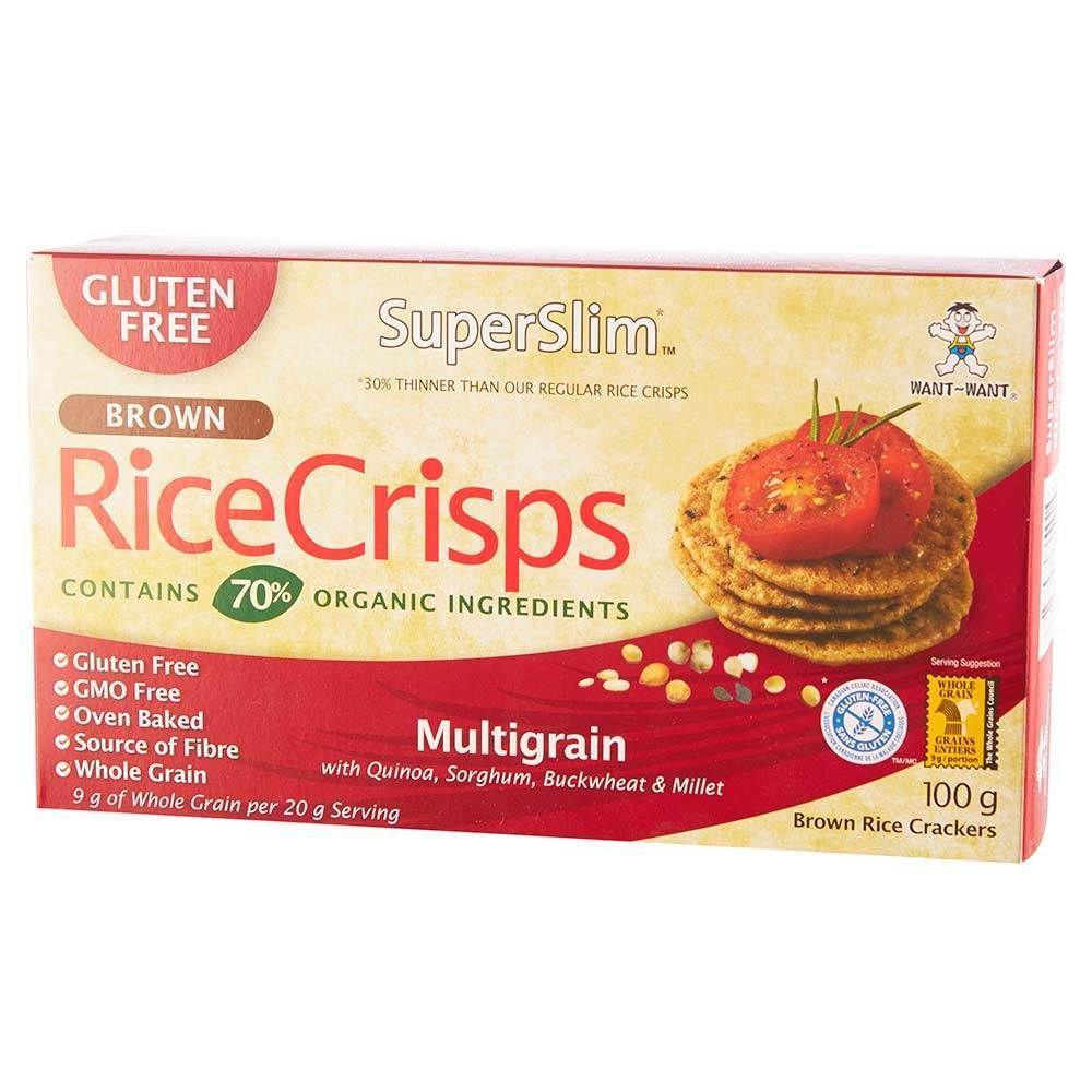 Galleta arroz integral sabor multigrano Caja 100 g