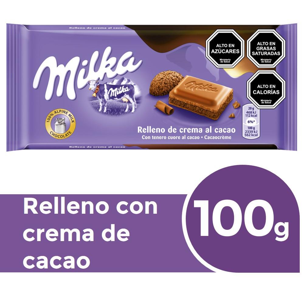 Chocolate de leche relleno con crema de cacao