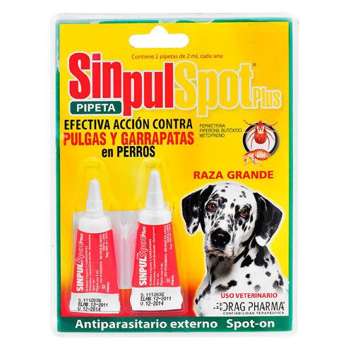 Pipeta antiparasitario externa para perros