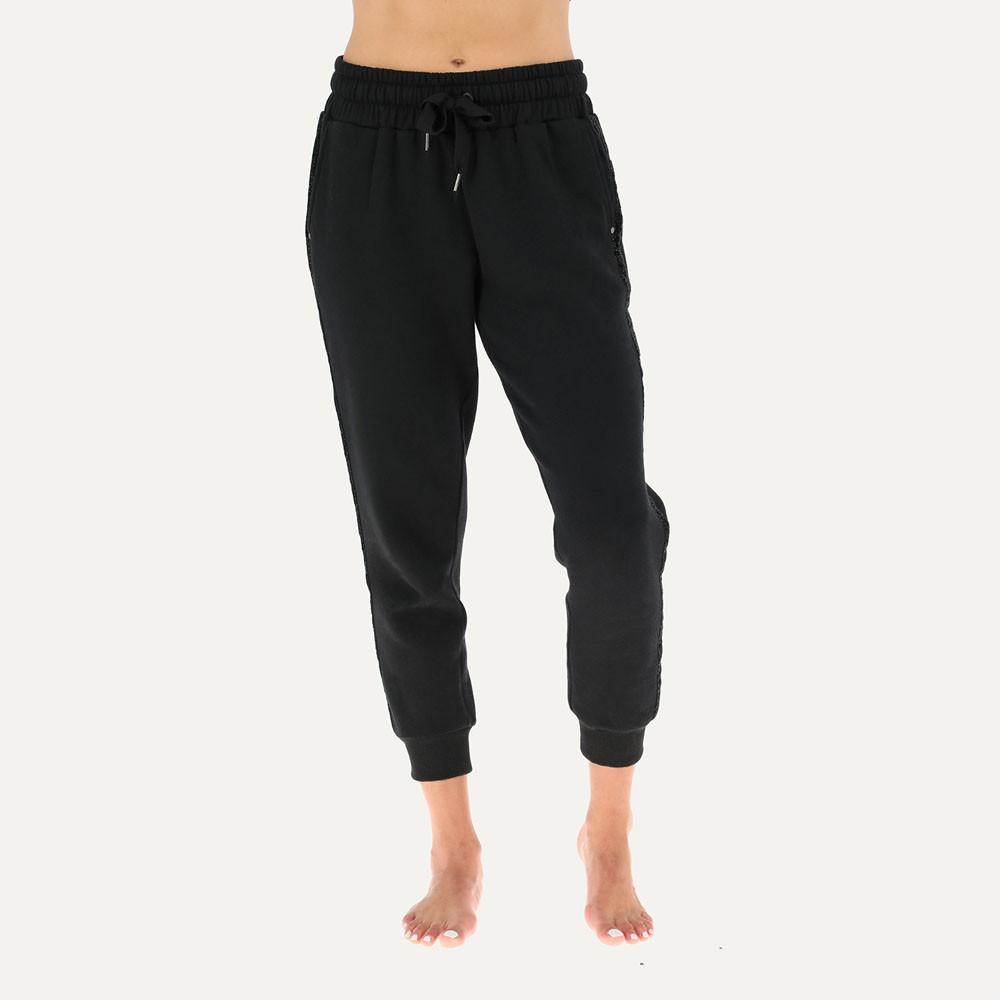 Calza jogger banda lurex 50202 s negro