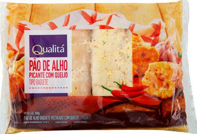 Pão de alho tipo baguete picante com queijo