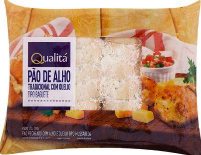 Pão de alho tipo baguete com queijo