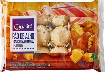 Pão de alho tipo bolinha com queijo
