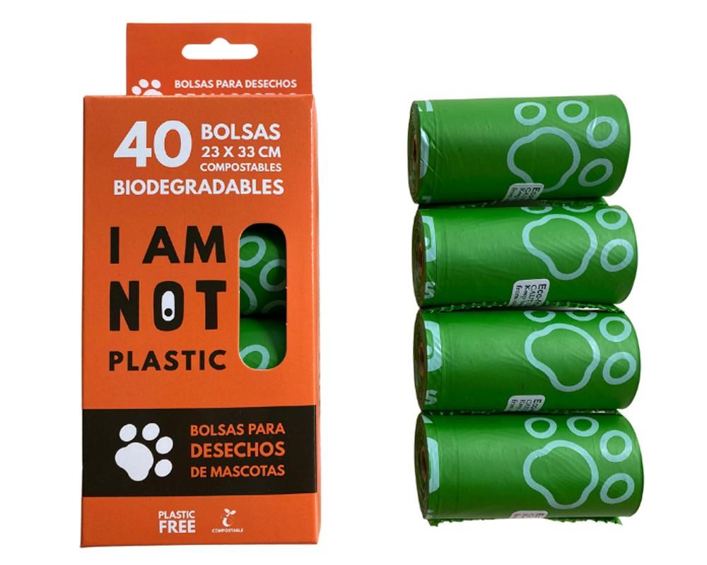 Bolsas para desechos de mascotas Compostable 40 bolsas: 23×33 cms