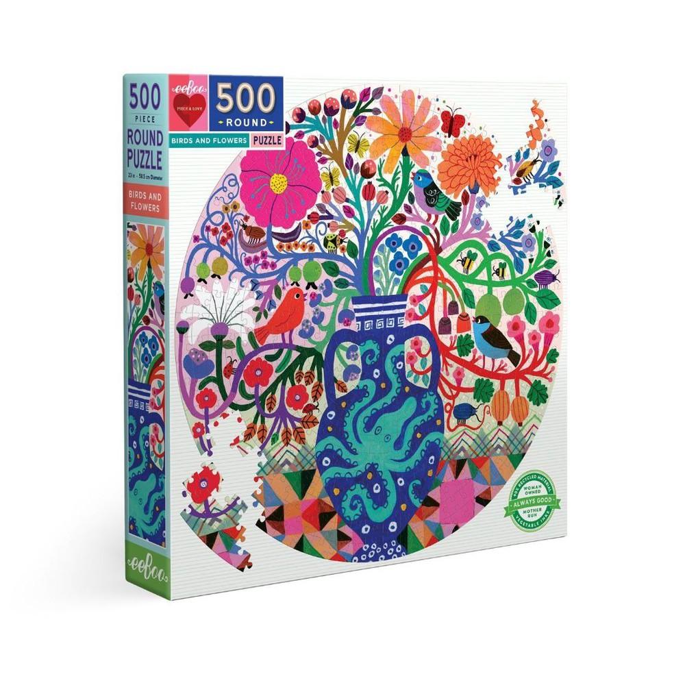 Puzzle pájaros y flores - 500 piezas