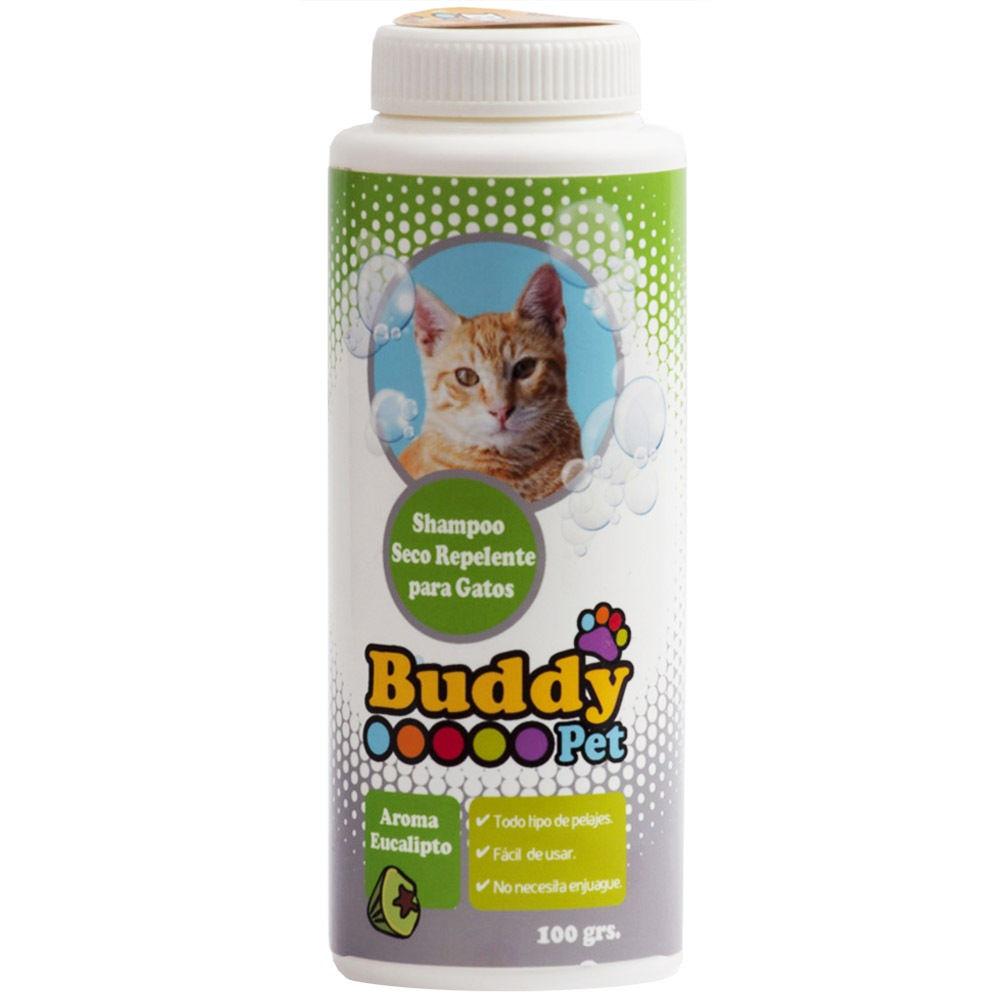 Shampoo Seco Repelente Pulgas para Gatos Eucalipto