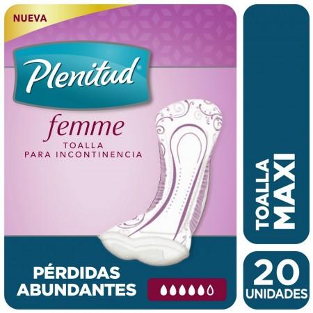Toalla femenina extra para la incontinencia