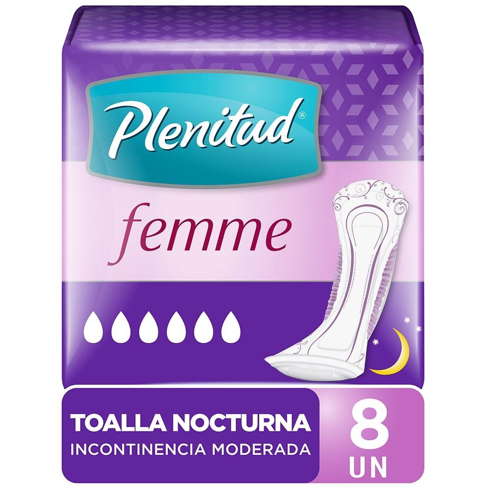 Toalla femenina nocturna incontinencia moderada