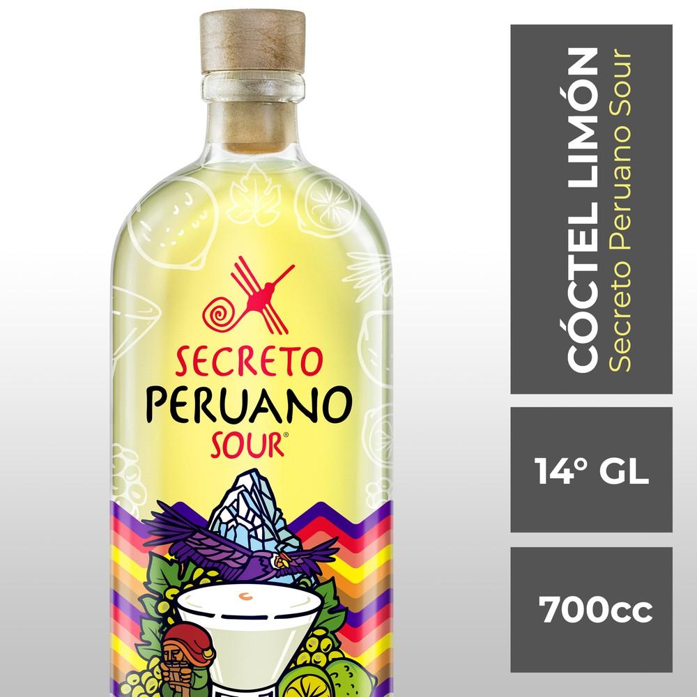 Cóctel limón sour botella