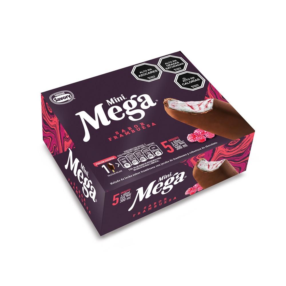 Helado Mega mini frambuesa