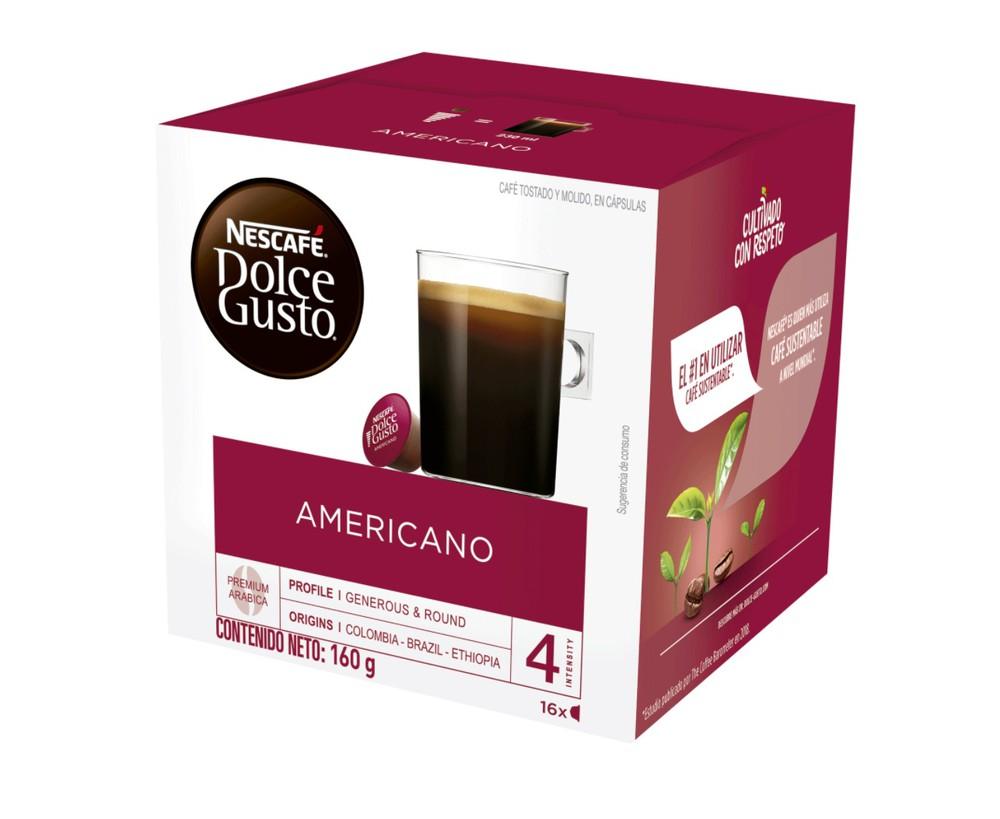 Café Nescafé americano cápsulas