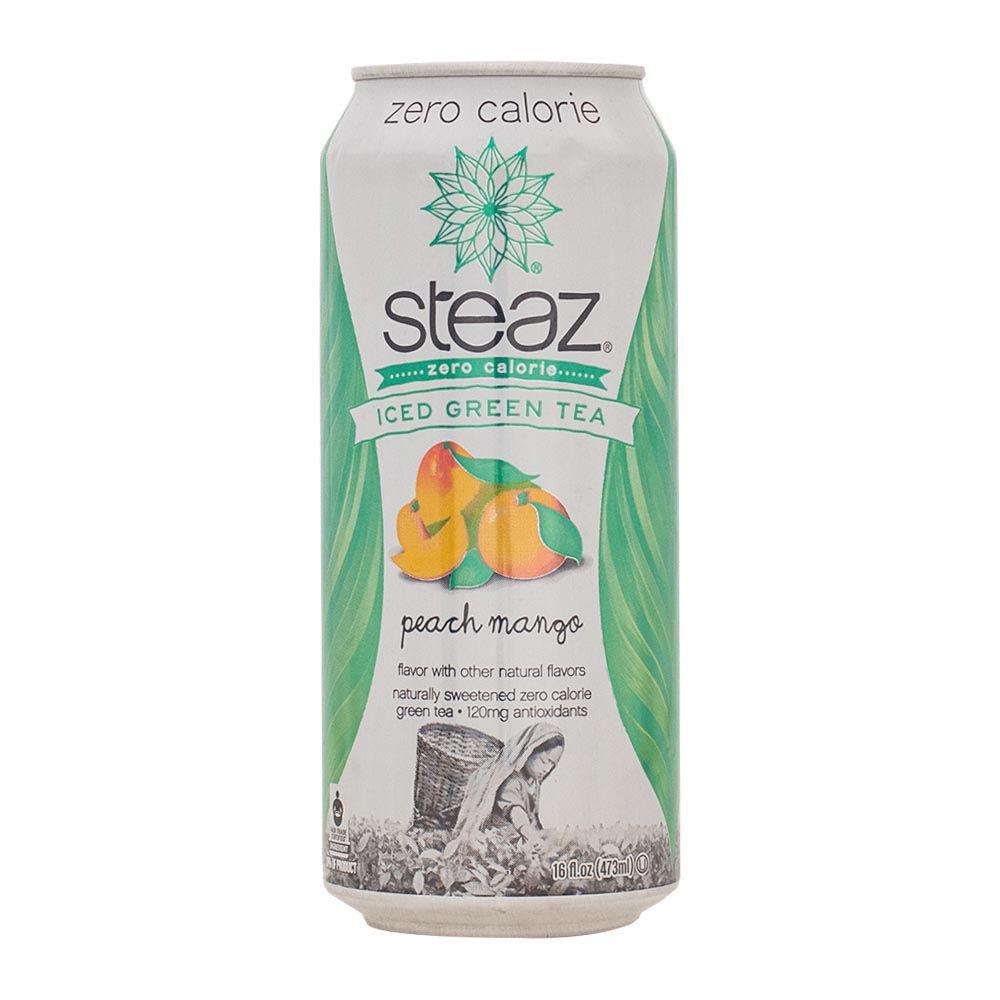 Té Verde Orgánico Helado Sabor Durazno Mango Lata