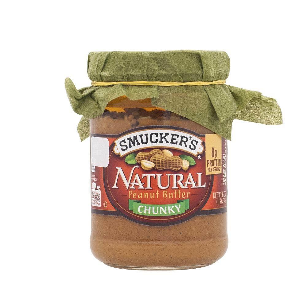 Mantequilla de maní natural chunky