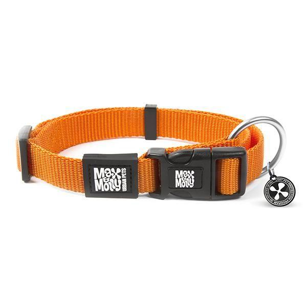 Collar pure orange con smart id (XS)