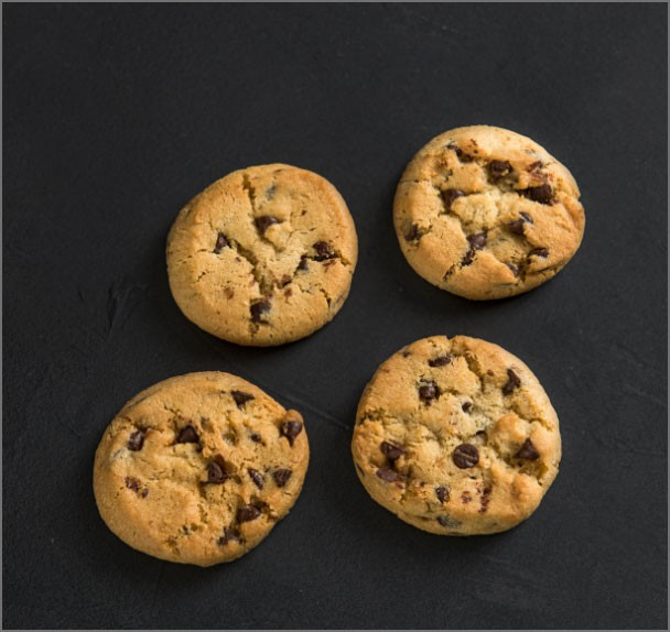 Small chocolate chip cookie