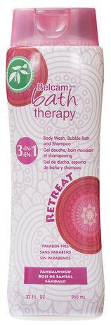 Bath Therapy 3-In-1 Body Wash, Bubble Bath & Shampoo   Sandalwood
